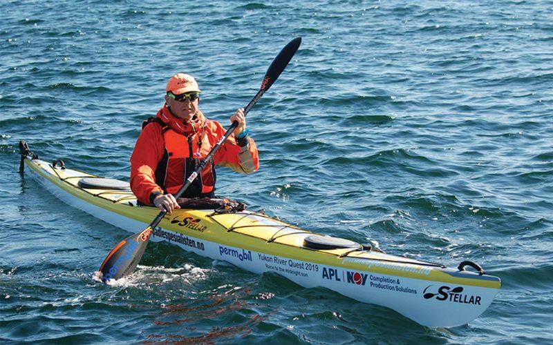 Morten Paulsen i hardtrening. Han har allerede trent og forberedt seg til løpet i 16 måneder. FOTO: JORUNN RAVNEVAND.