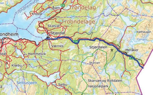 Hele padleturen er på ca syv mil. Fra Meråker til Trondheimsfjorden er det fem mil med rolig elv som kan padles med havkajakk. De to første milene fra grensen til Meråker er delvis krevende og må tas med elvekajakk. Her gjenstår fortsatt et parti som vi ikke fikk padlet.