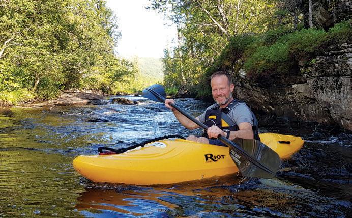 Flere av partiene i Tevla er nok bedre å padle på høyere vannstand.