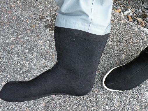 Tørrdrakt med sokker av napropene